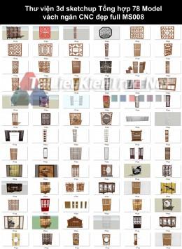 Thư viện 3d sketchup Tổng hợp 78 Model vách ngăn CNC đẹp full MS008