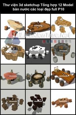 Thư viện 3d sketchup Tổng hợp 12 Model  bàn nước các loại đẹp full P10