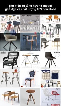 Thư viện 3d Tổng hợp 15 model ghế đẹp và chất lượng 069 download