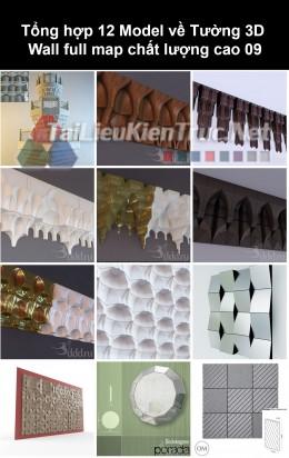 Tổng hợp 12 Model về Tường 3D Wall full Map chất lượng cao 09