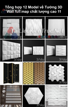 Tổng hợp 12 Model về Tường 3D Wall full Map chất lượng cao 11