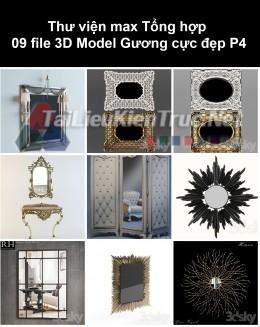 Thư viện max Tổng hợp 09 File 3D model Gương cực đẹp P4
