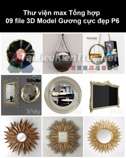 Thư viện max Tổng hợp 09 File 3D model Gương cực đẹp P6