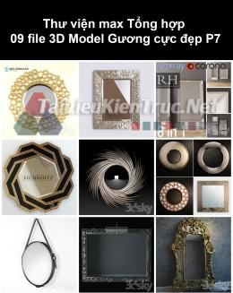 Thư viện max Tổng hợp 09 File 3D model Gương cực đẹp P7