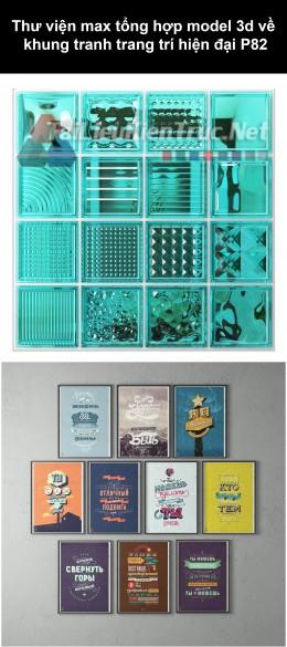 Thư viện max tổng hợp model 3d về Khung tranh trang trí hiện đại P82