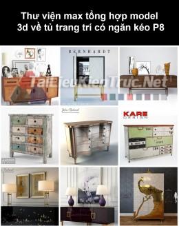 Thư viện max tổng hợp model 3d về tủ trang trí có ngăn kéo P8