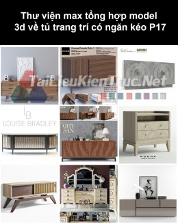 Thư viện max tổng hợp model 3d về tủ trang trí có ngăn kéo P17