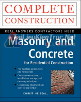 Masonry And Concrete For Residential Construction By Christine Beal