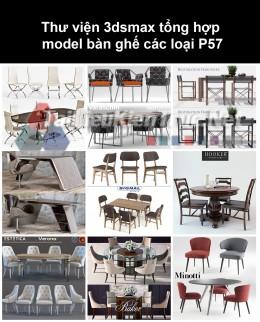 Thư viện 3dsmax tổng hợp Model bàn ghế các loại P57