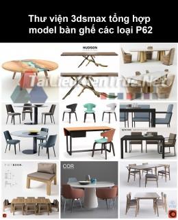 Thư viện 3dsmax tổng hợp Model bàn ghế các loại P62