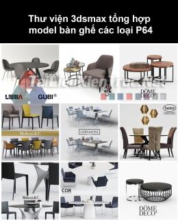 Thư viện 3dsmax tổng hợp Model bàn ghế các loại P64