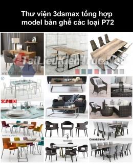 Thư viện 3dsmax tổng hợp Model bàn ghế các loại P72
