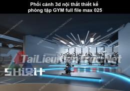 Phối cảnh 3d nội thất Thiết kế phòng tập GYM full file max 025