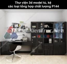 Thư viện 3d model tủ, kệ các loại tổng hợp chất lượng P144