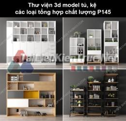 Thư viện 3d model tủ, kệ các loại tổng hợp chất lượng P145