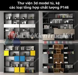 Thư viện 3d model tủ, kệ các loại tổng hợp chất lượng P146
