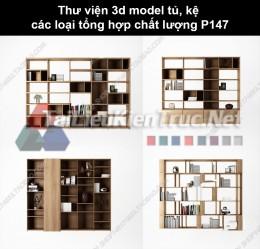 Thư viện 3d model tủ, kệ các loại tổng hợp chất lượng P147