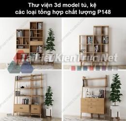 Thư viện 3d model tủ, kệ các loại tổng hợp chất lượng P148