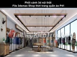 Phối cảnh 3d nội thất File 3dmax Shop thời trang quần áo p41
