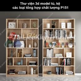 Thư viện 3d model tủ, kệ các loại tổng hợp chất lượng P151