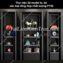 Thư viện 3d model tủ, kệ các loại tổng hợp chất lượng P152