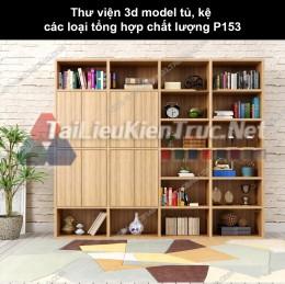 Thư viện 3d model tủ, kệ các loại tổng hợp chất lượng P153