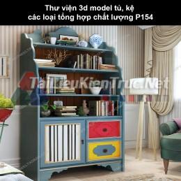 Thư viện 3d model tủ, kệ các loại tổng hợp chất lượng P154