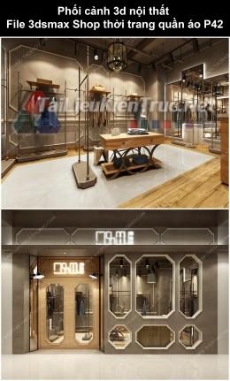 Phối cảnh 3d nội thất File 3dmax Shop thời trang quần áo p42