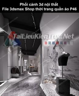 Phối cảnh 3d nội thất File 3dmax Shop thời trang quần áo p46