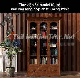 Thư viện 3d model tủ, kệ các loại tổng hợp chất lượng P157