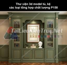 Thư viện 3d model tủ, kệ các loại tổng hợp chất lượng P158