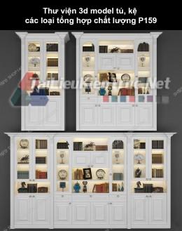 Thư viện 3d model tủ, kệ các loại tổng hợp chất lượng P159