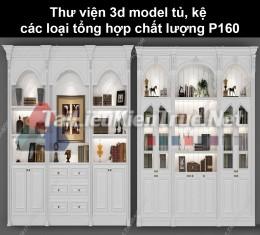 Thư viện 3d model tủ, kệ các loại tổng hợp chất lượng P160