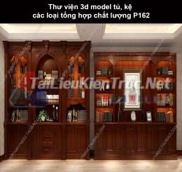 Thư viện 3d model tủ, kệ các loại tổng hợp chất lượng P162