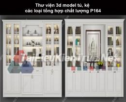 Thư viện 3d model tủ, kệ các loại tổng hợp chất lượng P164