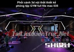 Phối cảnh 3d nội thất Thiết kế phòng tập GYM full file max 035