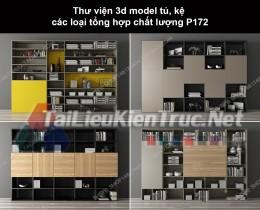 Thư viện 3d model tủ, kệ các loại tổng hợp chất lượng P172