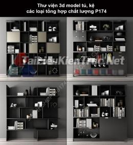 Thư viện 3d model tủ, kệ các loại tổng hợp chất lượng P174