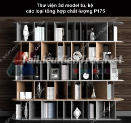 Thư viện 3d model tủ, kệ các loại tổng hợp chất lượng P175