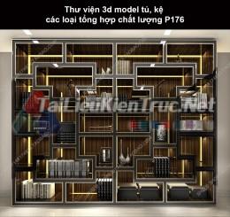 Thư viện 3d model tủ, kệ các loại tổng hợp chất lượng P176