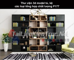 Thư viện 3d model tủ, kệ các loại tổng hợp chất lượng P177