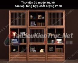 Thư viện 3d model tủ, kệ các loại tổng hợp chất lượng P178