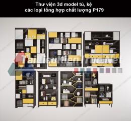 Thư viện 3d model tủ, kệ các loại tổng hợp chất lượng P179