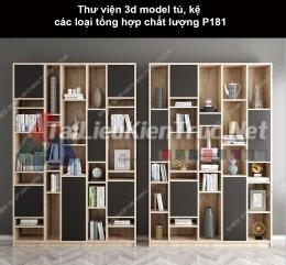 Thư viện 3d model tủ, kệ các loại tổng hợp chất lượng P181