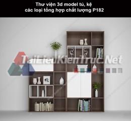 Thư viện 3d model tủ, kệ các loại tổng hợp chất lượng P182