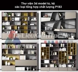 Thư viện 3d model tủ, kệ các loại tổng hợp chất lượng P183
