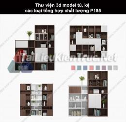 Thư viện 3d model tủ, kệ các loại tổng hợp chất lượng P185