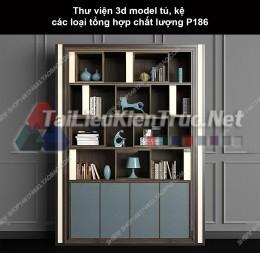 Thư viện 3d model tủ, kệ các loại tổng hợp chất lượng P186