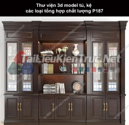 Thư viện 3d model tủ, kệ các loại tổng hợp chất lượng P187