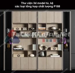 Thư viện 3d model tủ, kệ các loại tổng hợp chất lượng P188